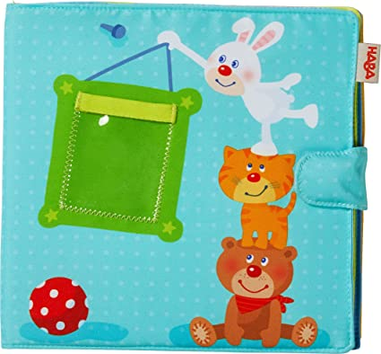 Amazoncom Haba My First Photo Album Soft Fabric Baby Book Fits