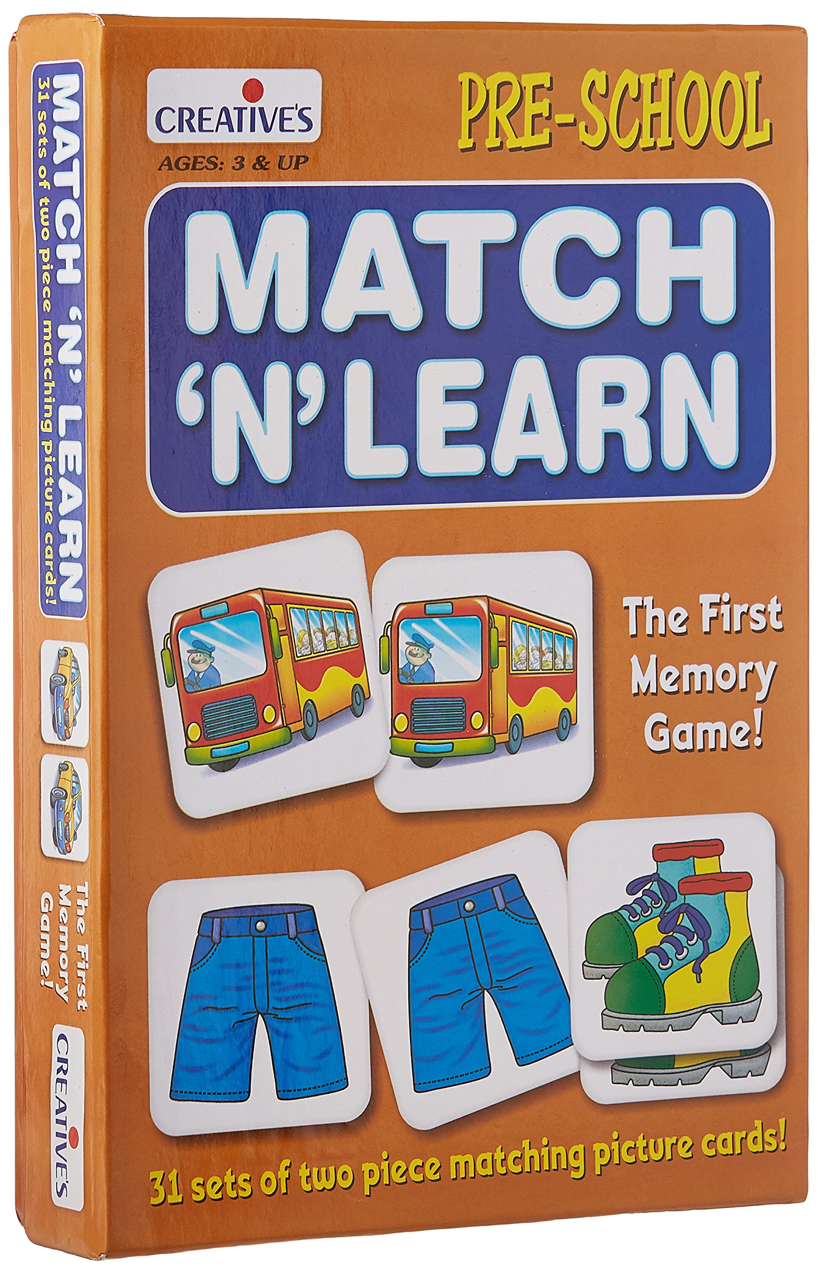 Creative's Match N Learn Card Game (Multi-Color, 62 Pieces) product image