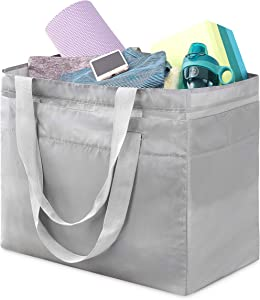 Whitmor Laundry Carryall Tote, Crosshatch Gray