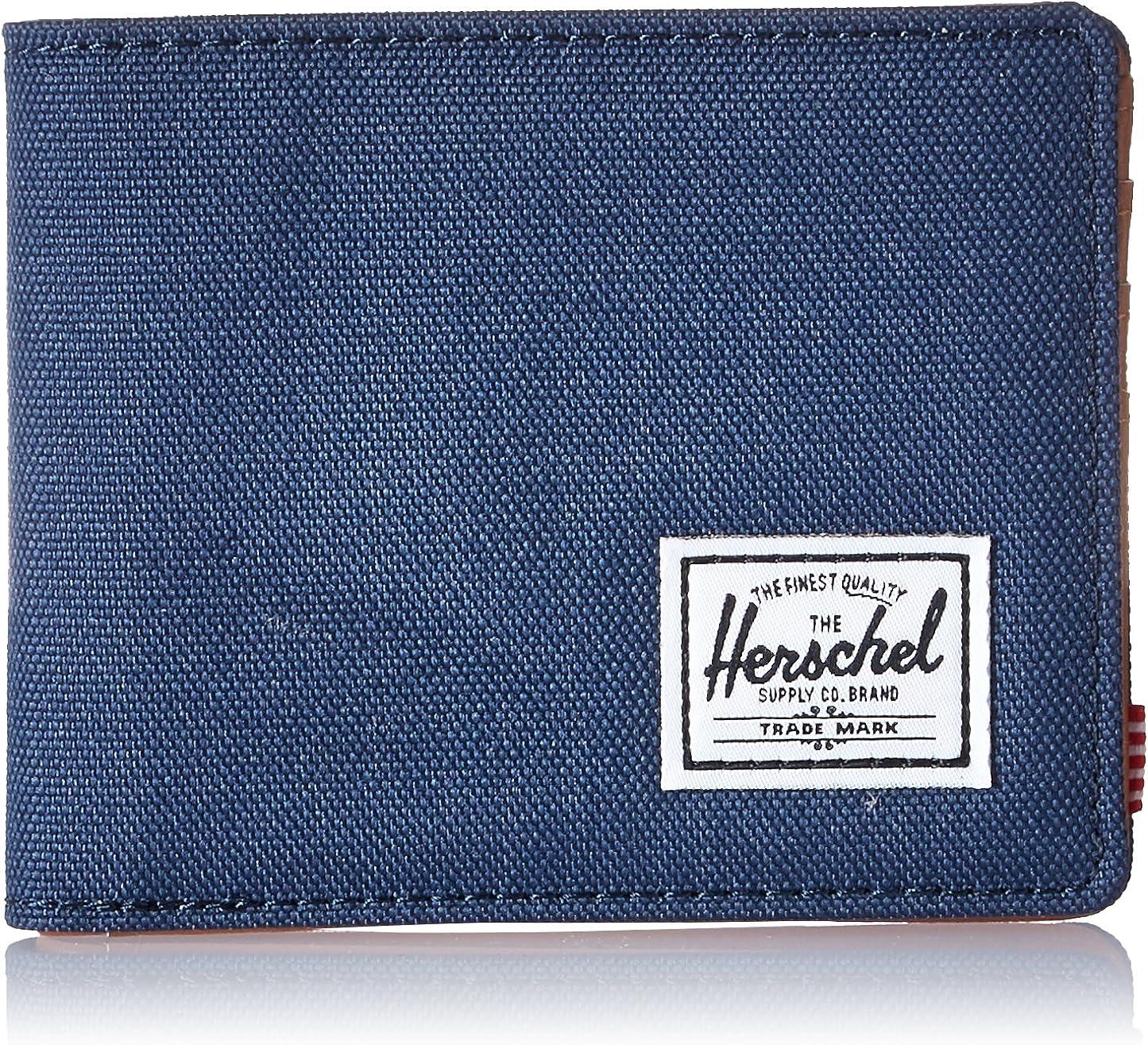 Herschel Supply Co. Cartera para Hombre Cuero sintético Azul Marino/Bronceado. Taille Unique