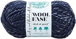 Lion Brand Yarn 640-535 Wool-Ease Thick & Quick Yarn, River Run