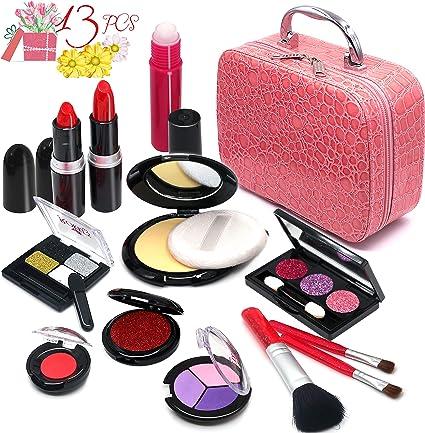 Amazon.com: Pretend Maquillaje Niñas Cosméticos Juguetes ...