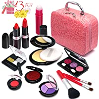 Pretend Make up Girls Toys - Fake Make Up Set Pretend Cosmetic Set for Kids Children Princess Pretend Play Game Christmas Birthday Gifts Toys for 2 3 4 5 6 Years Old Girls Gift