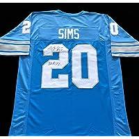 $79 » Billy Sims Detroit Lions Signed Autograph Jersey JSA COA