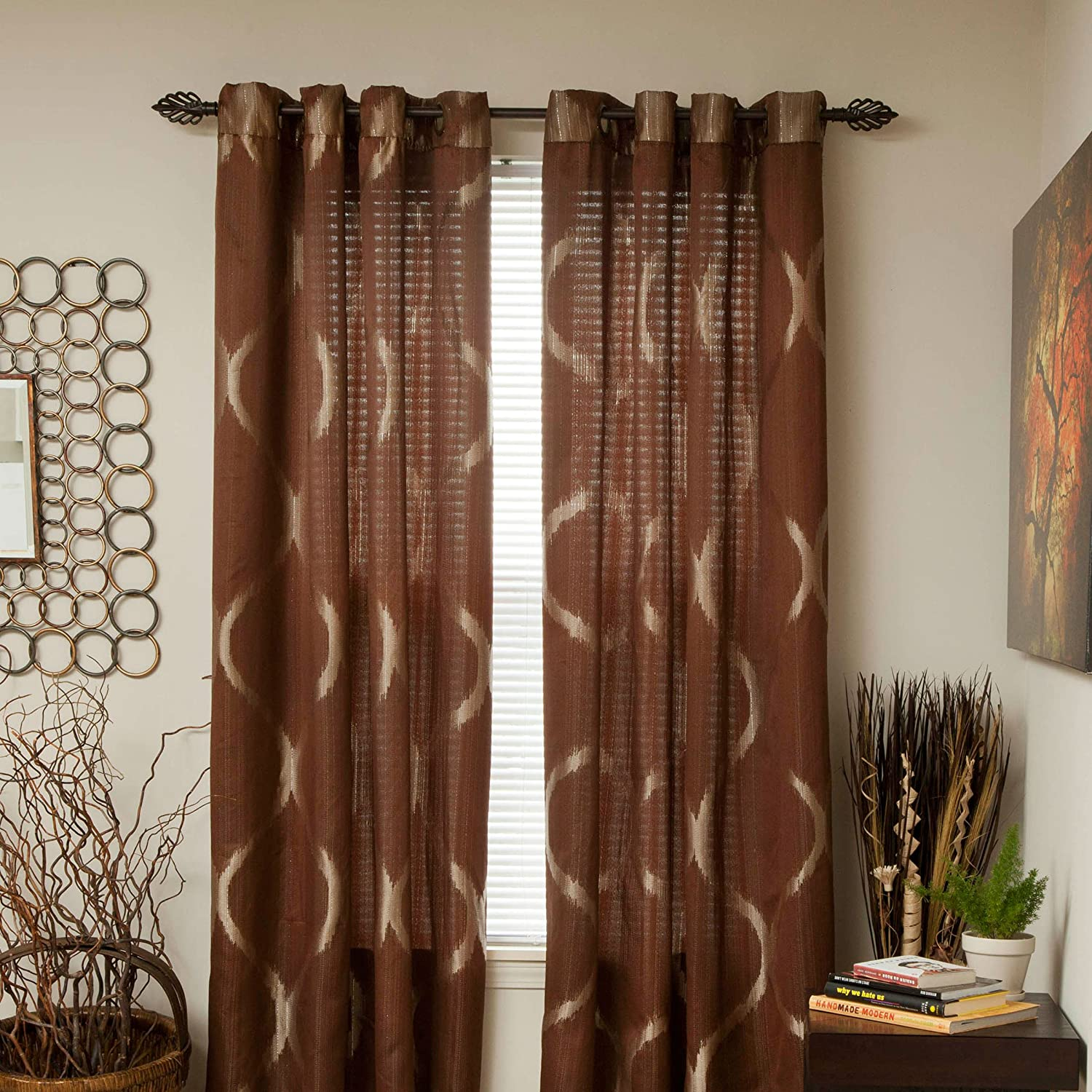 modern ready metallic panel arran slot curtains itm top foil curtain voile made