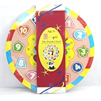 Little grin Wooden Teaching Clock Puzzle with Movable Hands - Educational & Learning Toy, Available Patterns: Snail, Panda, Teddy and Elephant for Children (Panda)