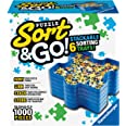 Ravensburger Sort and Go Jigsaw Puzzle Accessory - Sturdy and Easy to Use Plastic Puzzle Shaped Sorting Trays to Organize Puz