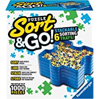 Ravensburger Sort and Go Jigsaw Puzzle Accessory - Sturdy and Easy to Use Plastic Puzzle Shaped Sorting Trays for…