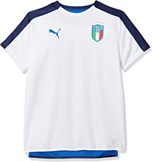 0ac98e1bae1d Puma Children s FIGC Italia Away Replica Short Sleeve Shirt  Amazon ...
