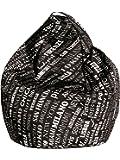 13Casa - City A1 - Poltrona sacco. Dim: 80x80x120 h cm. Col: Nero. Mat: Nylon.