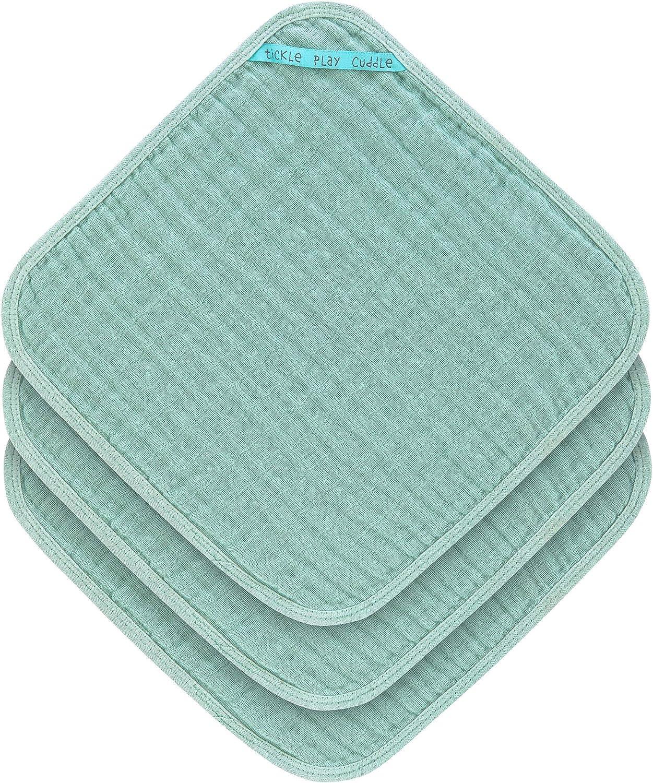 LÄSSIG - Juego de toallas de muselina (3 unidades), color menta