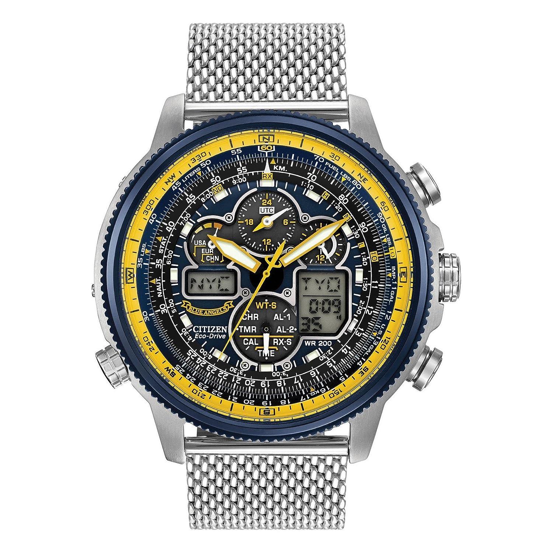 bc95cb98953 Amazon.com  Citizen Men s Eco-Drive Blue Angels Navihawk A-T Watch ...