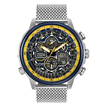 754a9e16c32 Amazon.com  Citizen Men s Eco-Drive Blue Angels Navihawk A-T Watch ...