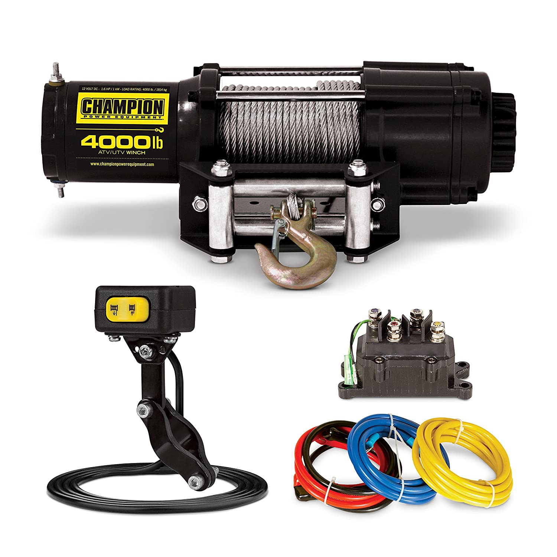 Champion 4000-lb ATV//UTV Winch Kit with Mini-Rocker