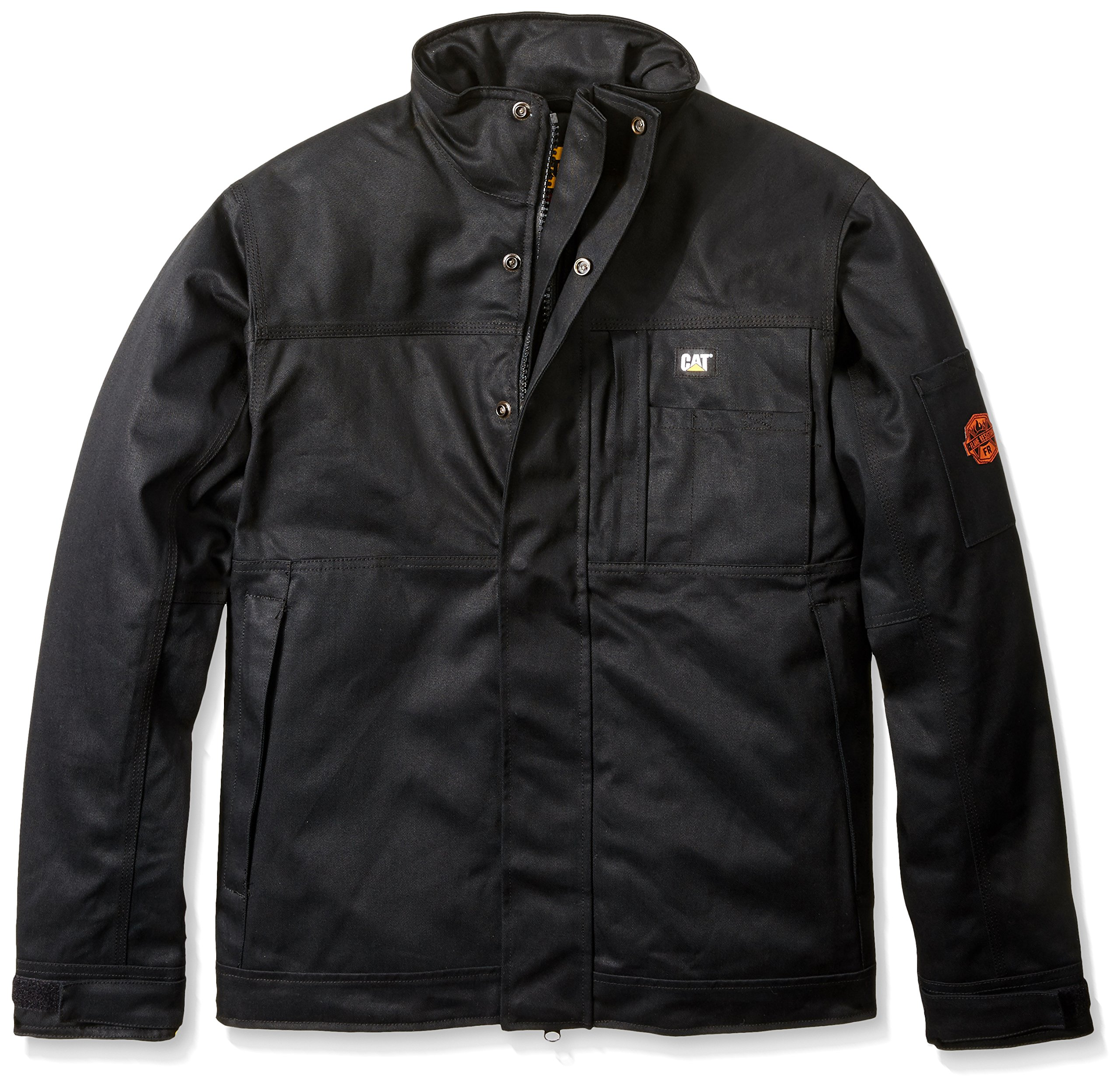 Caterpillar Men's Flame Resistant Insulated Jacket, Flame Resistant Black, X-Large by Caterpillar
