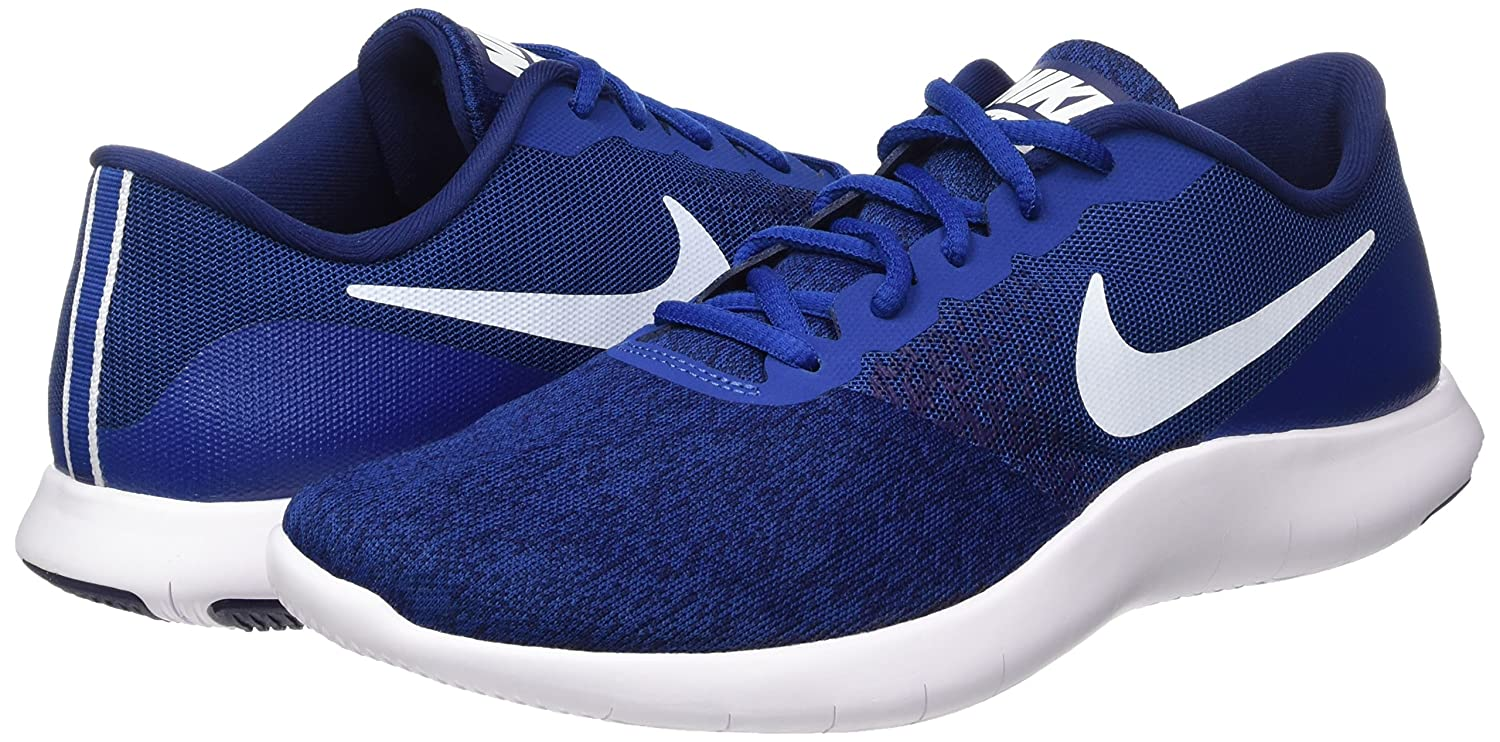 Amazon.com | NIKE Mens Flex Contact Running Shoes (9.5 D(M), Gym Blue/White-Binary Blue) | Running