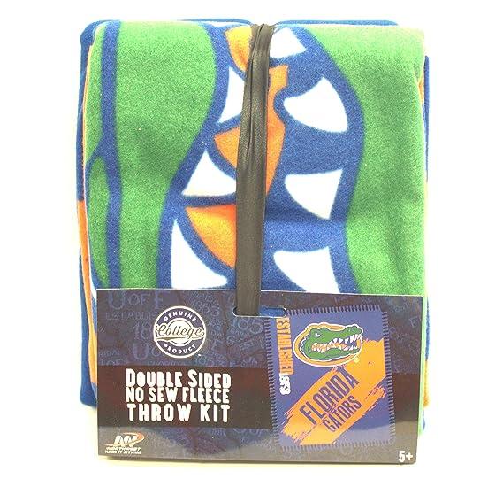 Amazon.com : Florida Gators Double Sided No Sew Fleece Blanket Kit : Sports & Outdoors