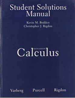 Calculus with differential equations 9th edition dale varberg student solutions manual for calculus fandeluxe Choice Image