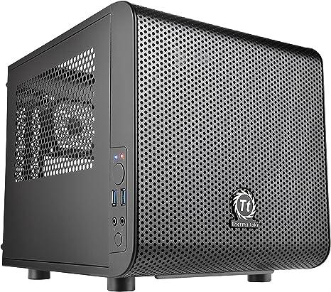 Thermaltake Core V1 Mini Itx Cube Case With Fan Computers Accessories