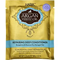 HASK Argan Oil Deep Conditioner Packet Repairing for All Hair Types, Color Safe, Gluten/Sulfate/Paraben-Free, White