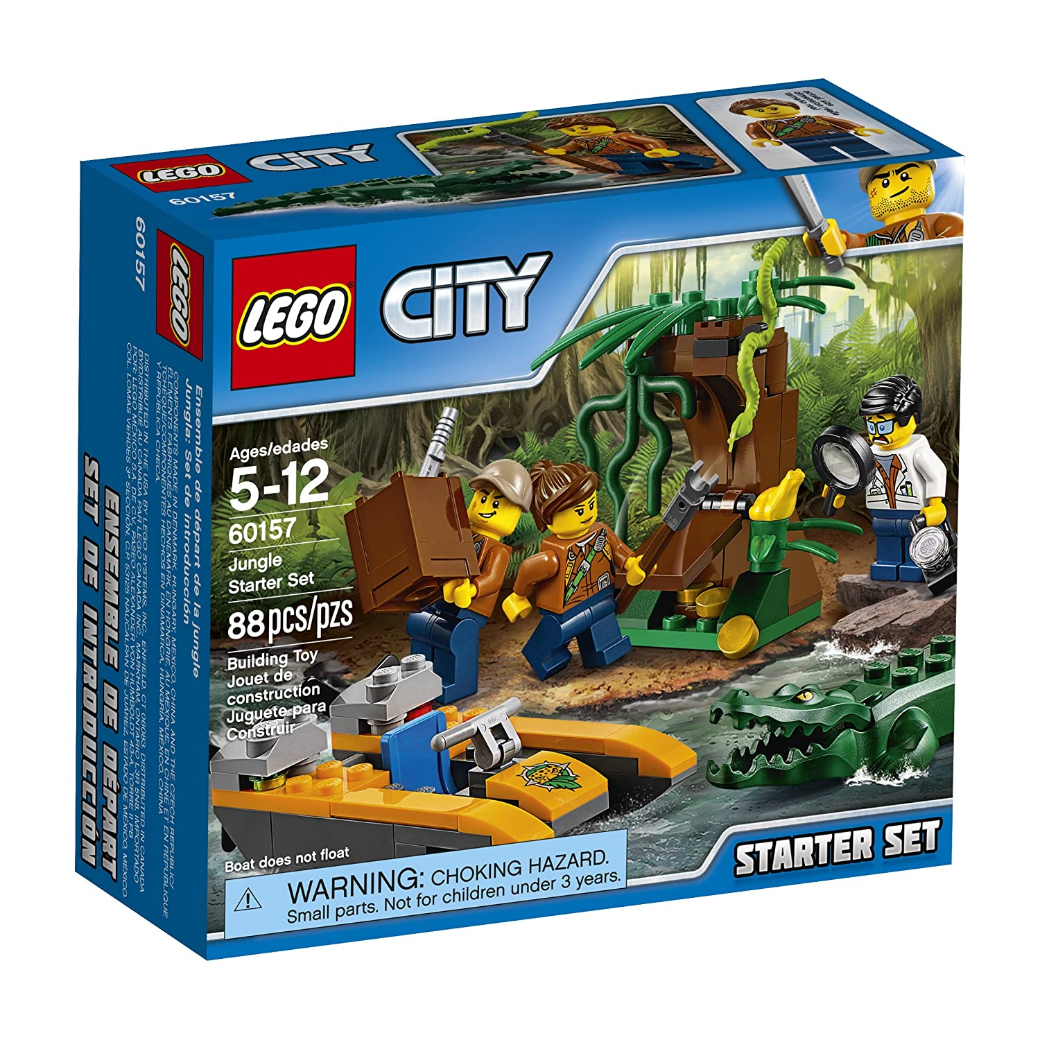 Lego City Explorers Jungle Starter Set Building Kit, 88 Piece 6174574