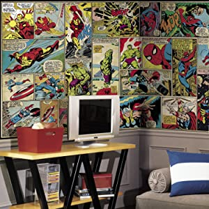 RoomMates Marvel Comic Panel Removable Wall Mural - 10.5 feet X 6 feet