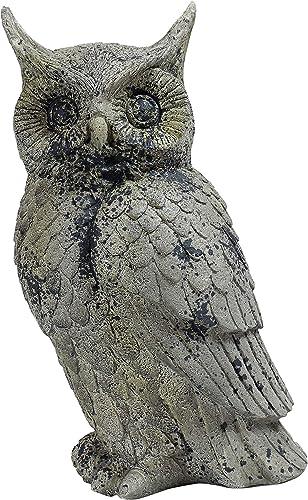 Sunnydaze 14-Inch Great Horned Owl Outdoor Garden Statue