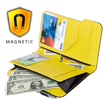 Ogalv 5x8 Server Book Yellow for Waitress Waiter Organizer Magnetic with  Zipper Pocket Money Pen Holder Fits Restaurant Guest Checks and Apron