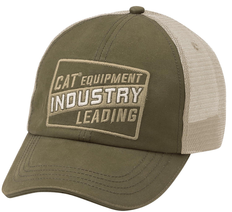 Caterpillar 1120019 - Gorra con visera y mensaje Cat Industry, de malla negro negro uni