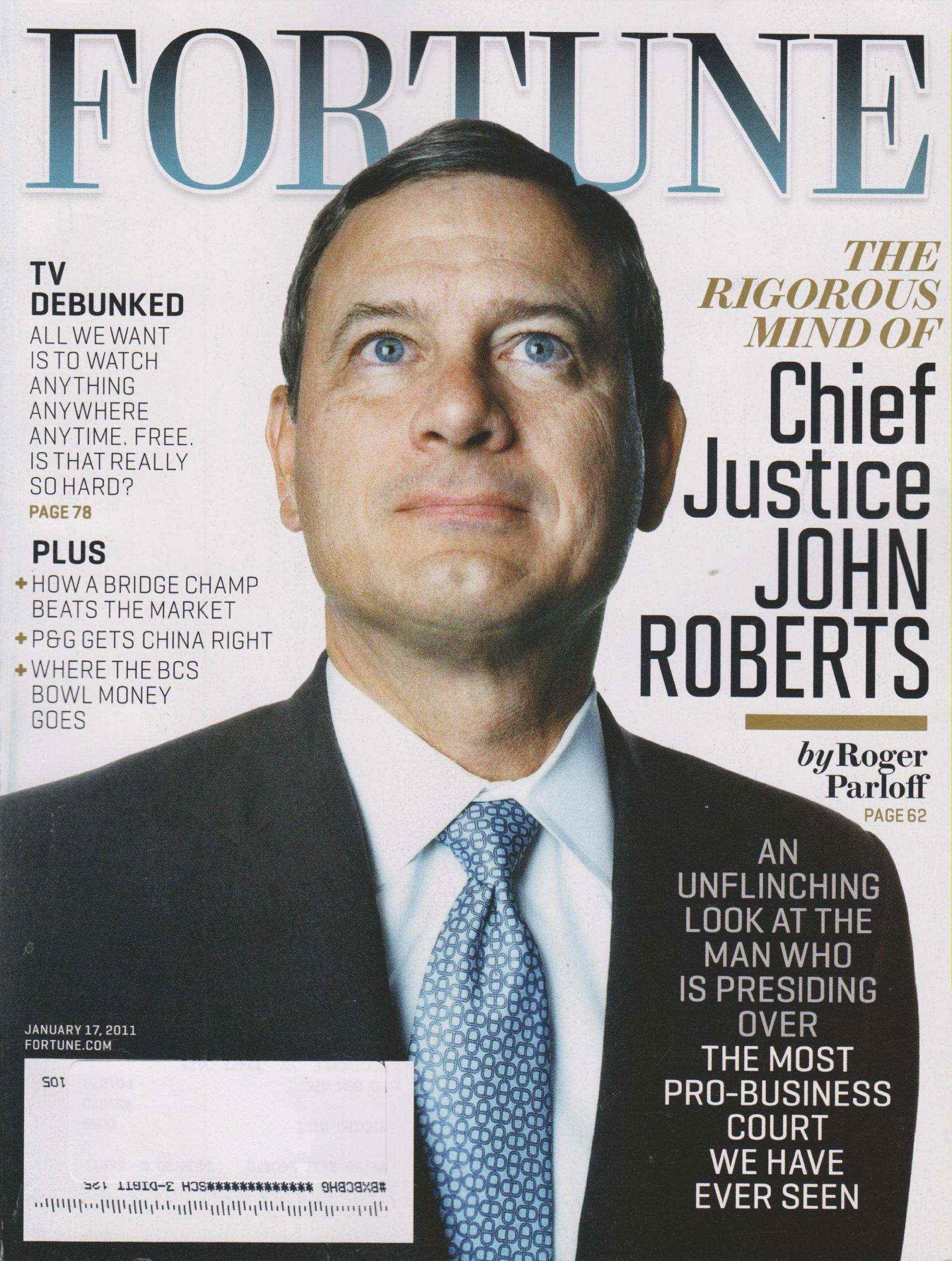 Fortune Magazine January 17, 2011 Chief Justice John Roberts (Vol 163, No. 1) pdf