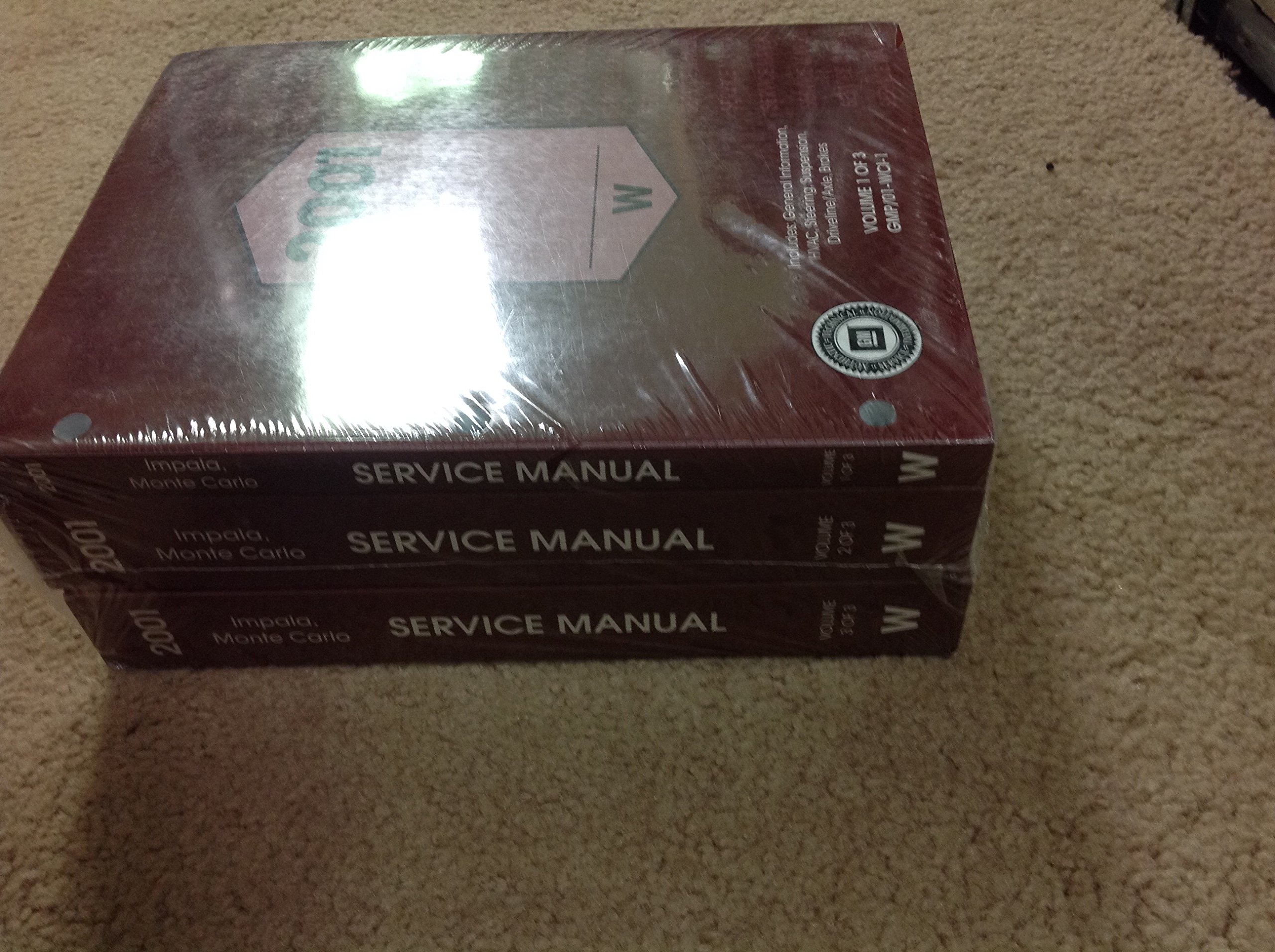 01 2001 Chevrolet Monte Carlo owners manual