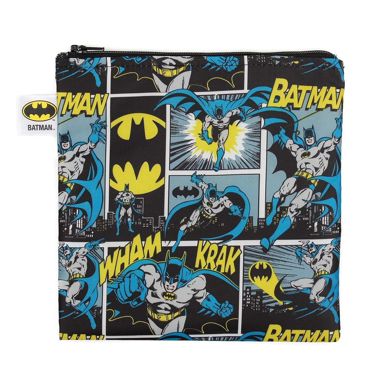 Bumkins Sandwich Bag / Snack Bag, DC Comics Reusable, Washable, Food Safe, BPA Free, 7x7 – Batman