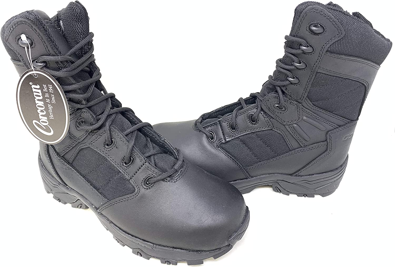 Corcoran Mens 8 Non-Metallic Tactical Boots with Side Zipper Black 12 Wide CV5000