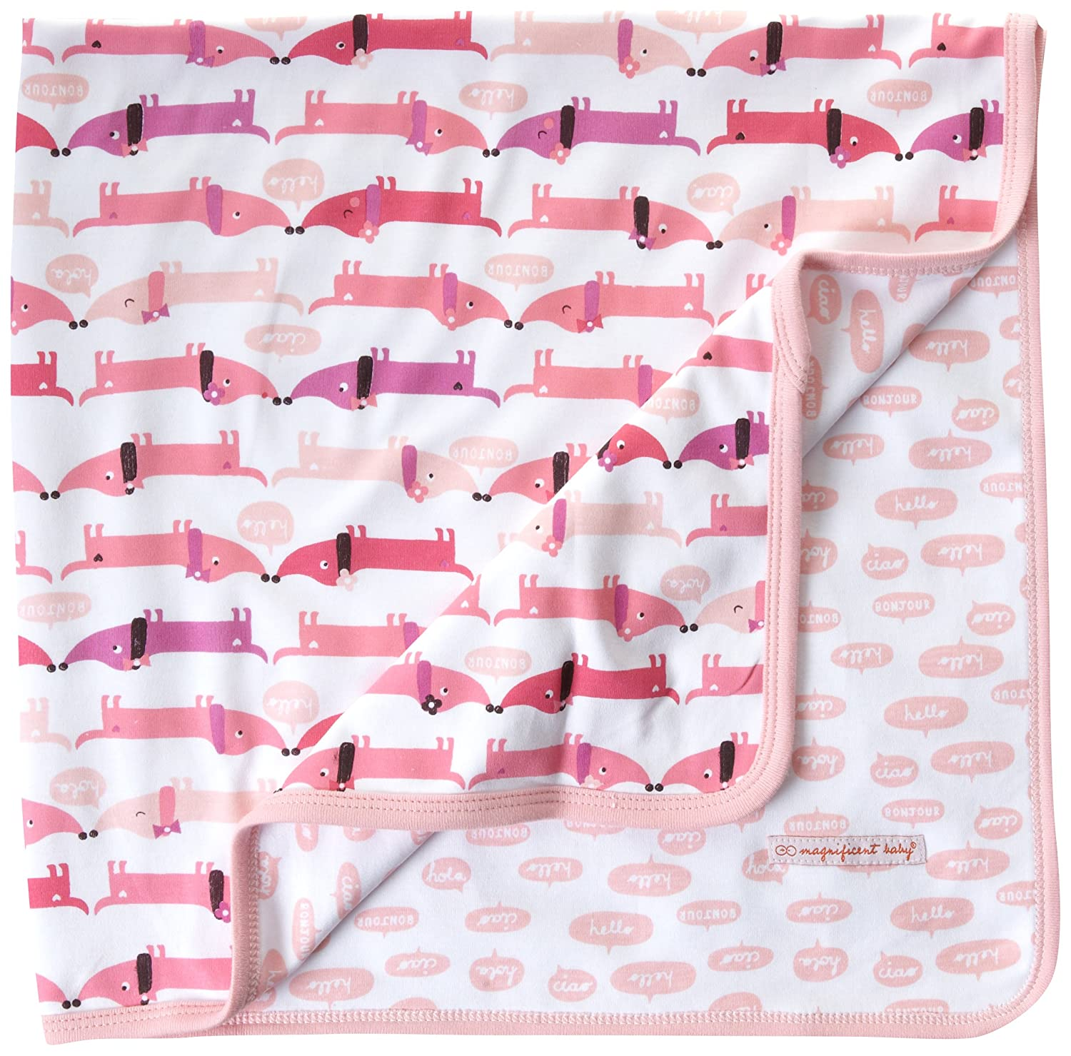 Magnificent Baby Girl Hot Dogs Reversible Blanket, Hot Dogs, One-Size, 1-Pack 2134G