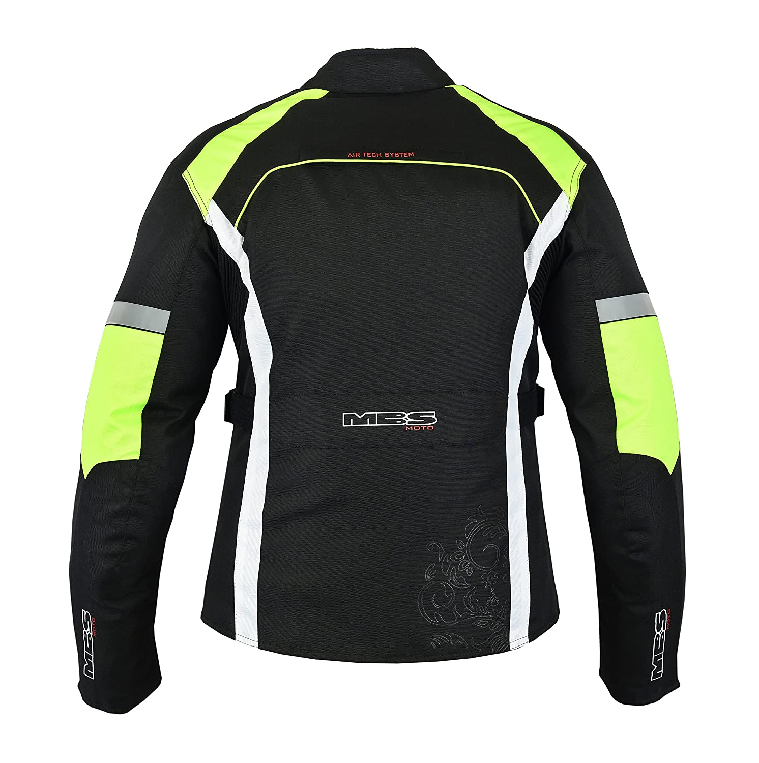 S, Yellow MBSmoto MJ24 Ladies Motorcycle Motorbike Scooter Touring Waterproof Womens Textile Jacket