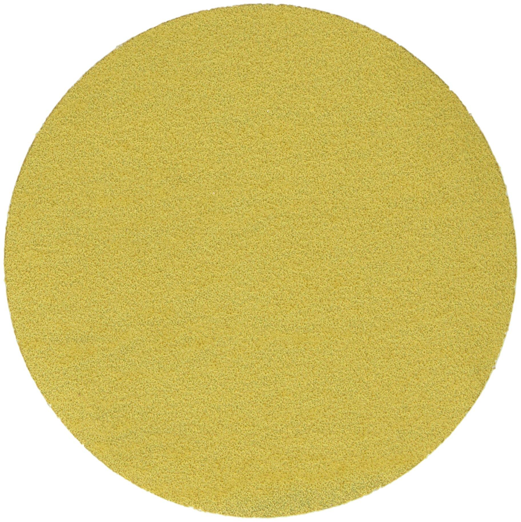 3M Hookit Gold Film Disc 255L, Aluminum Oxide, Dry Only, 5'' Diameter, P80 Grit, Gold (Pack of 1)