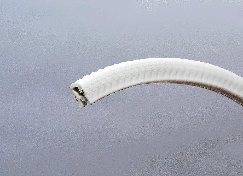 Ribete de borde blanco peque/ño 0.375/U altura x 0.039-0.093/agarre gama