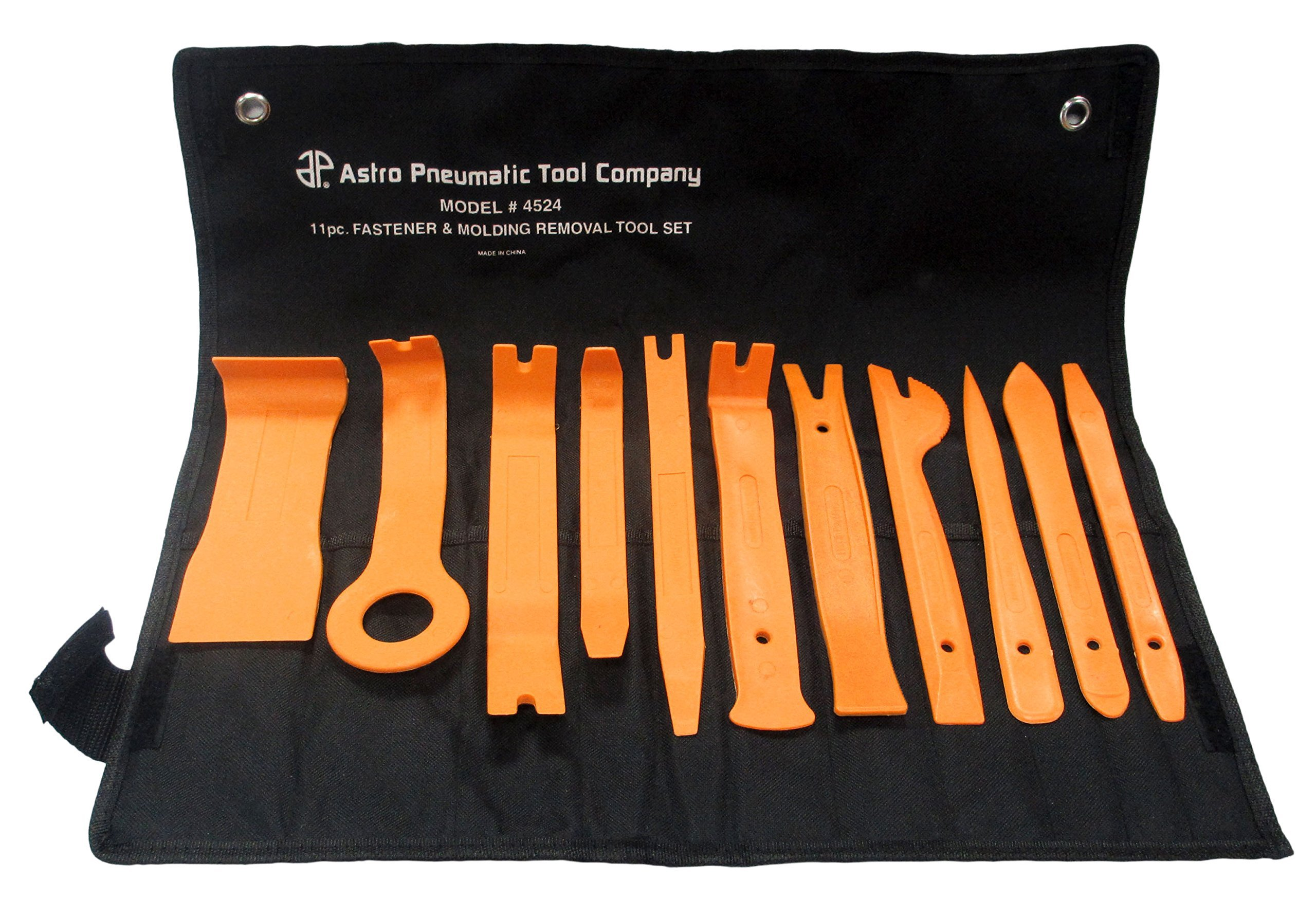 Astro Pneumatic 4524 Auto Fastener and Molding Removal Tool Set, 11-Piece