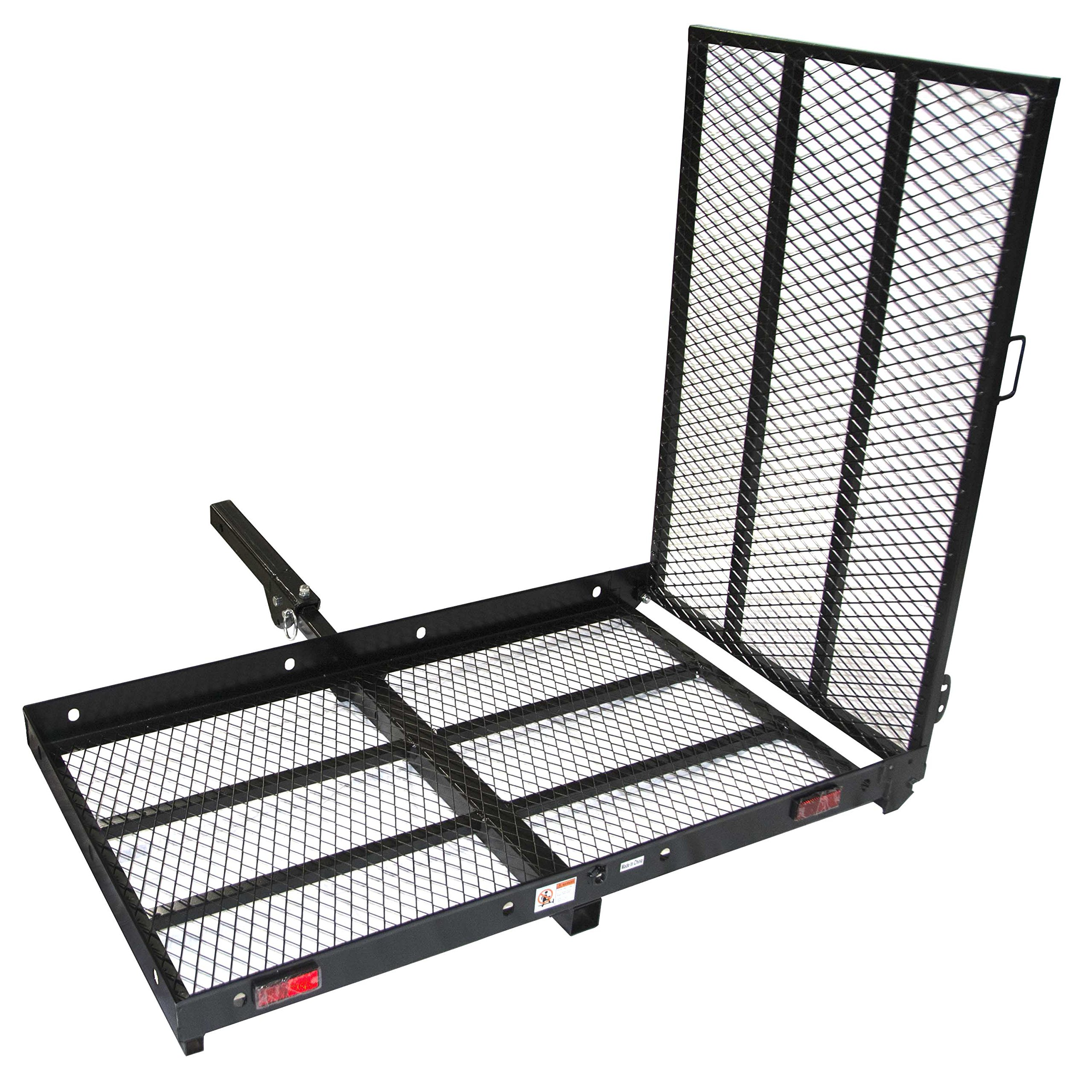 ALEKO MC400 400 Pound Capacity Wheelchair and Power Scooter Folding Cargo Carrier Rack with Foldable Ramp by ALEKO