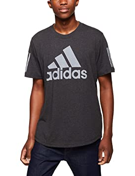 adidas Sport ID Logo Camiseta, Hombre, blckme, Small