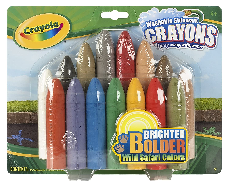USA Produkt - Crayola Sidewalk Crayons-Wild Safari Farbes 15/Pkg