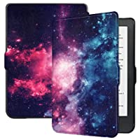 Kobo Clara HD Case - Rate Sell Premium Folio Smart-Shell Stand Slim Lightweight Case Cover Auto Sleep/Wake Kobo Clara HD Tablet Outer Space