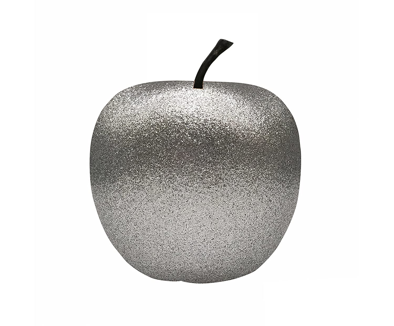 Pottery Pots Apfel Glitter Bronze, handgefertigter Deko-Apfel, robustes Fiberglas, Größe XS, Glitzer Bronze, Dekoartikel für Drinnen & Draußen, Wohnideen, Deko-Artikel für Gastronomie und Hotellerie Größe XS