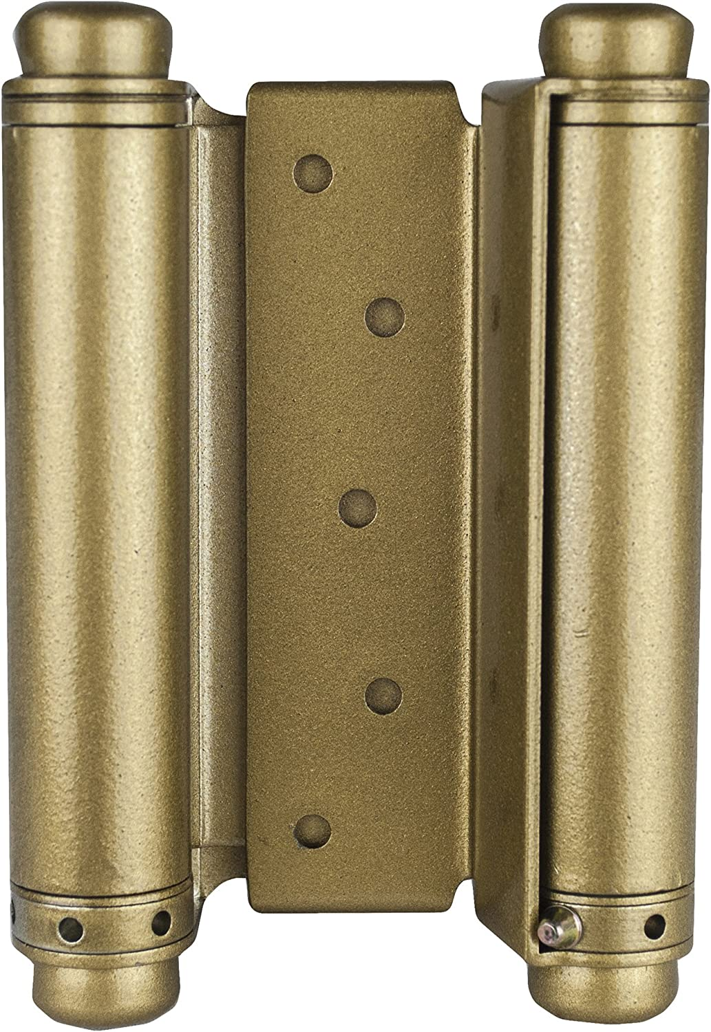 Set of 2 Global Door Controls DH-TAN5004-US3 DH-Tan Series Trans Atlantic 4 Double Acting Spring Hinge in Bright Brass 4 Piece