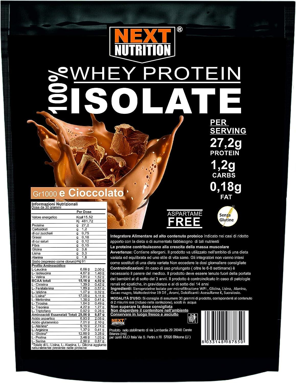 Proteína Whey de Suero de Leche 100% aislado VB 104 KG 1 Sabor a cacao Asimilación Inmediata   Solo 0.18gr de Grasas y 1.2gr de Carbohidratos ...