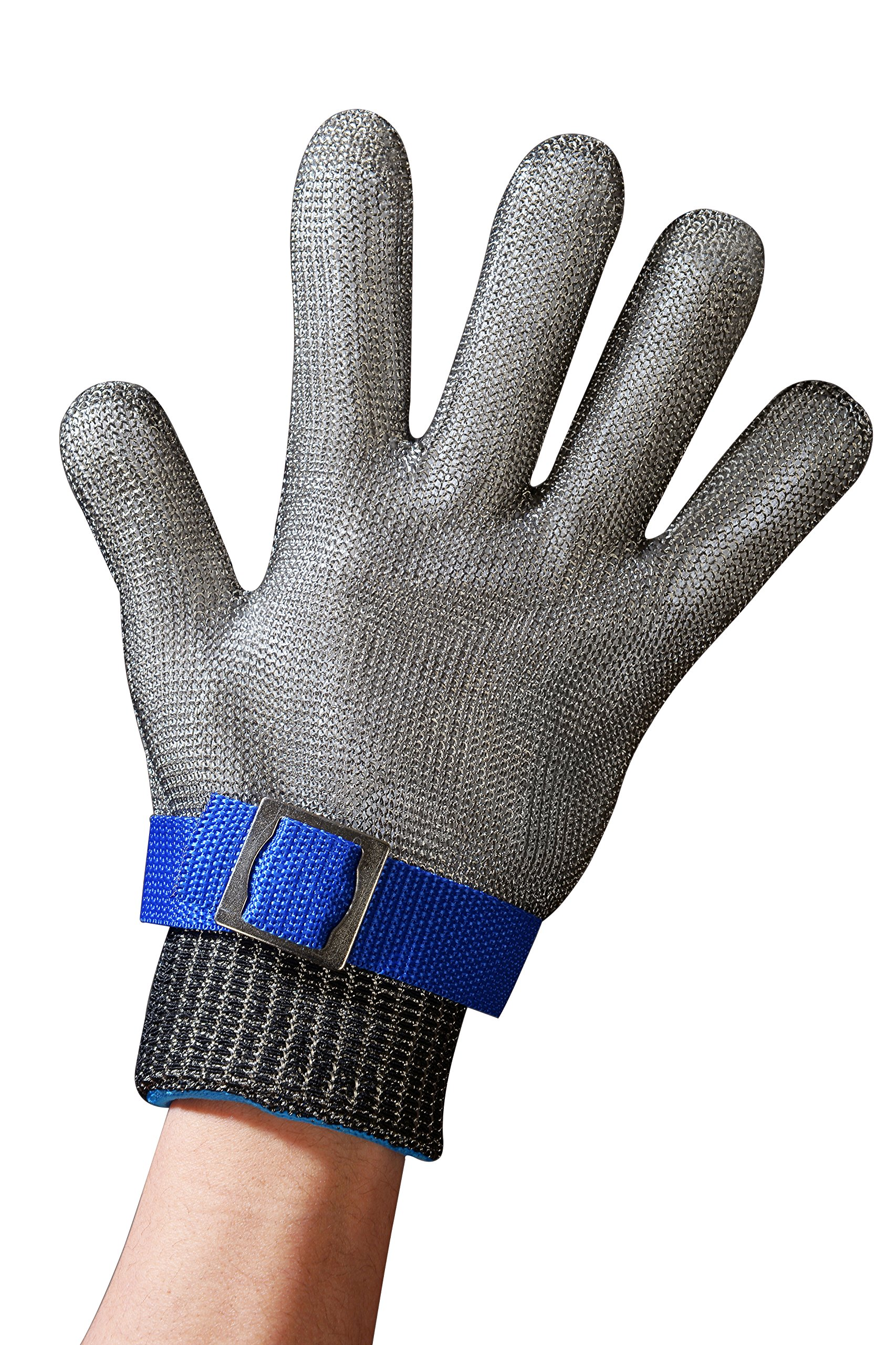 Schwer Cut Resistant Gloves-Stainless Steel Wire Metal Mesh Butcher Safety Work Gloves for Meat Cutting, fishing(Extra Large)