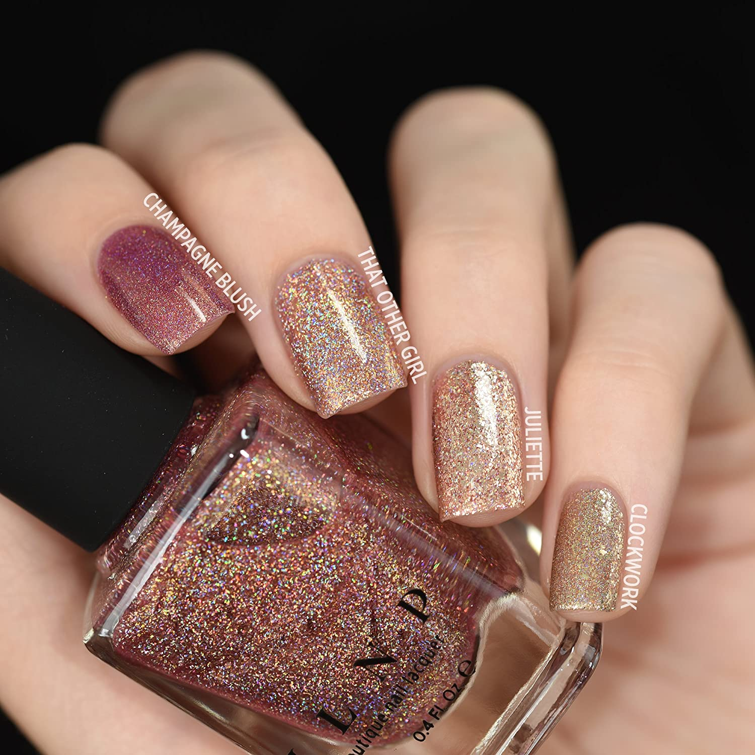 Amazon.com : ILNP That Other Girl - Rose Gold Ultra Holographic Nail ...