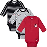 Gerber Baby-Boys 3-Pack Long Sleeve Thermal Onesies Bodysuits Footie