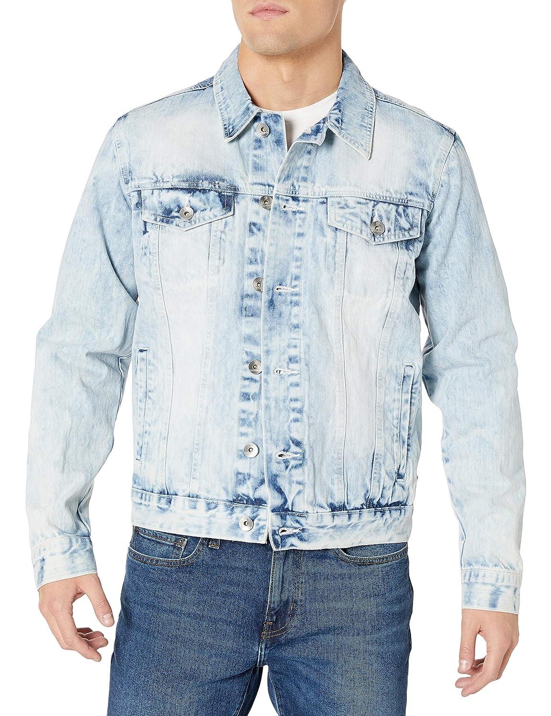Southpole Mens Aian Utility Premium Fashion Denim Jacket