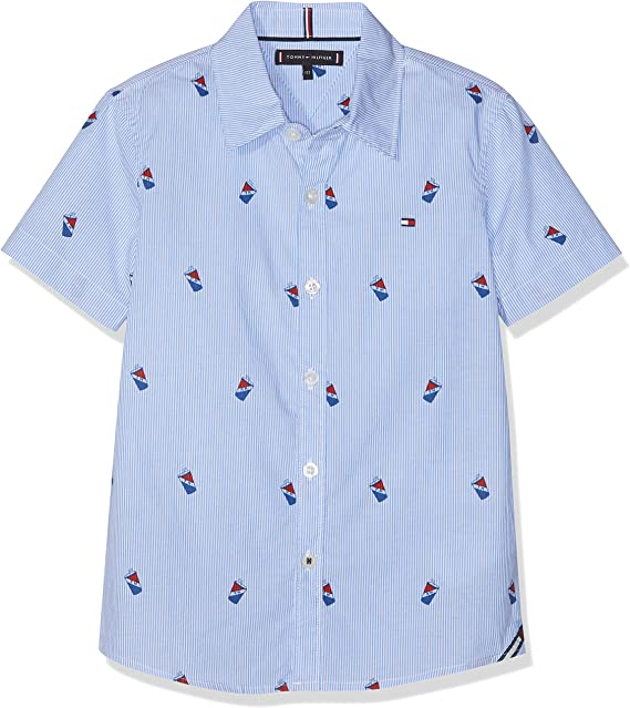 Tommy Hilfiger Mini Stripe Print Shirt S/S Blusa para Niños: Amazon.es: Ropa y accesorios